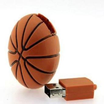 Basketbol topu formalı fləşkart